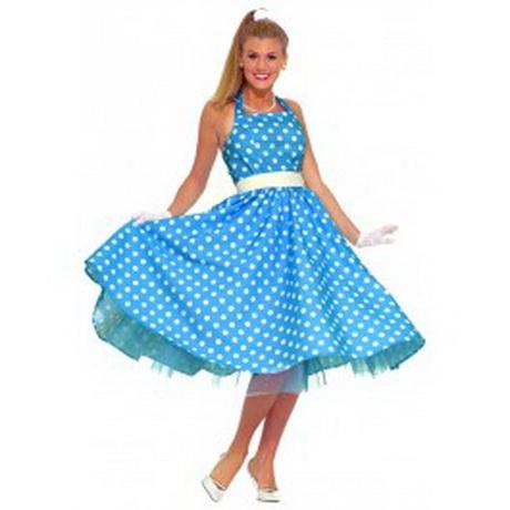 Blauw – 50's. Dit carnavalsartikel Jaren 50 jurk blauw is te koop ...: jackalinne.com/50-s-jurk