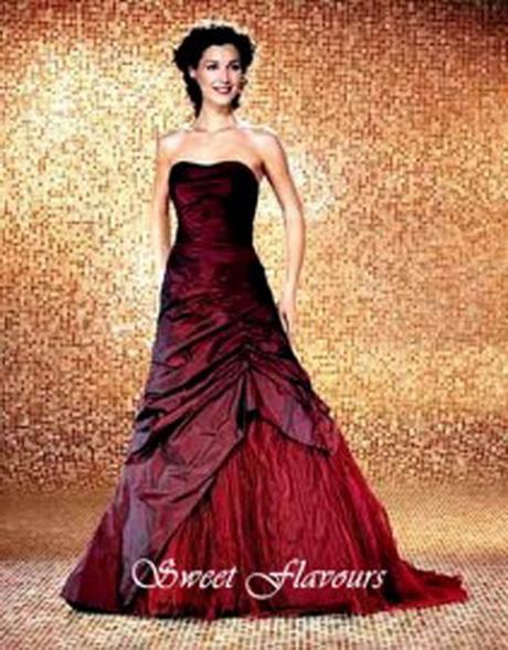 Genoeg Bordeaux rode trouwjurk AO36