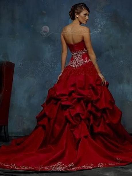 Favoriete Bordeaux rode trouwjurk JU83