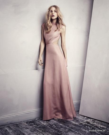 New Lange roze jurk @PE98