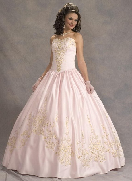 Genoeg Roze trouwjurk &HK65