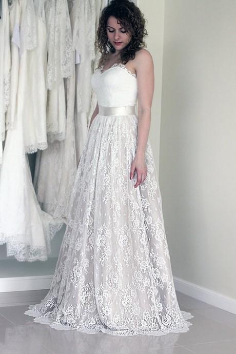 jurk wit kant