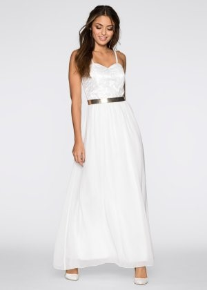 Witte lange zomerjurk - Brautkleid bonprix ...