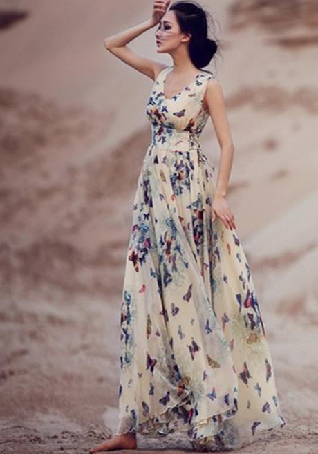 Top Bohemian maxi jurk TH89