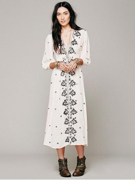 Voorkeur Bohemian maxi jurk WP06