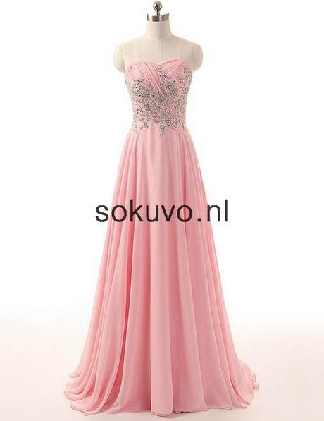 Extreem Lange jurken roze #ZI66